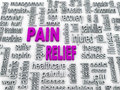 3d pain relief concept Royalty Free Stock Photo