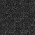 3D paper art pattern round spiral cross chain vine Royalty Free Stock Photo