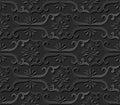 3D paper art pattern spiral cross frame flower Royalty Free Stock Photo