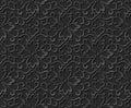 3D paper art pattern spiral curve vine flower Royalty Free Stock Photo