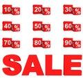 3d percent cubes sale set Royalty Free Stock Photo