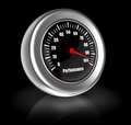 D performance meter illustration of shows a high speed Stock Photography