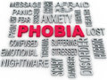 D phobia symbol conceptual design on white anxiety di disorder concept Royalty Free Stock Image