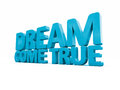 D phrase dream come true icon on a white background illustration Royalty Free Stock Image