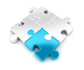 D pieces of puzzle white background image Stock Image