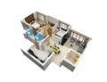 3D Plan of a dwelling unit