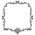 D plaster frame white background Royalty Free Stock Photography