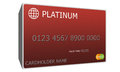 D platinum red credit card an imitation with nubmers and valid thru date great to use in a concept Stock Images