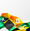 3d polygonal object triangles, abstract background