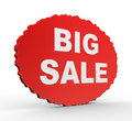 D presentation of big sale concept illustration on white background Stock Photos