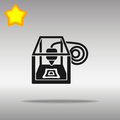 3D printer black Icon button logo symbol