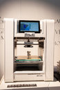 3D printer on display at HOMI, home international show in Milan, Italy Royalty Free Stock Photo
