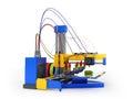 3d printer print prosthesis 3D render on white