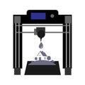 3D printer Vector background locomotive black