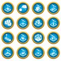 3d printing icons set, simple style Royalty Free Stock Photo