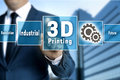 3d Printing touchscreen is operated by businessman Royalty Free Stock Photo