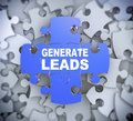 3d puzzle pieces - generate leads Royalty Free Stock Photo