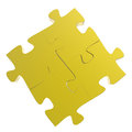D puzzles partnership as concept Royalty Free Stock Image