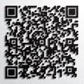 D qr code with shadow illustration of fictive picture Royalty Free Stock Photos