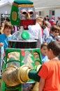 D.A.R.E robot & kids Stock Photography