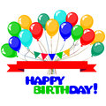3d Realistic Colorful Bunch of Birthday Balloons