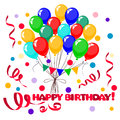 3d Realistic Colorful Bunch of Birthday Balloons Royalty Free Stock Photo