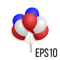 3d Realistic Colorful Bunch of Birthday Balloons Flying for Party,  in White Background. Royalty Free Stock Photo