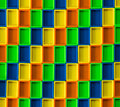 D rectangle color pattern blocks of different colors Royalty Free Stock Photos
