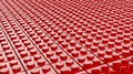 3D Red Of Lego Blocks