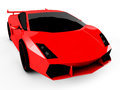 Red sports car  on white background Royalty Free Stock Photo