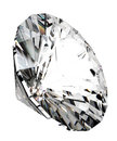 D render of beautiful diamond over white background Stock Photos