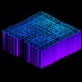 3d render of blue geometric data object Royalty Free Stock Photo