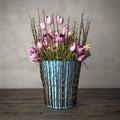 3d render - bouquet of tulips - still life.