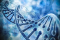 D render of dna structure abstract background Stock Photo