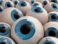 D render eyeballs illustration of Royalty Free Stock Photo