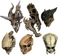 Fantasy Monster Skulls Of Vari...