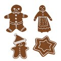 D render of gingerbreads realistic Royalty Free Stock Photos