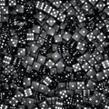 D render hundreds black dice Royalty Free Stock Image