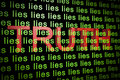 D render illustrating concpet truth behind lies Royalty Free Stock Photography