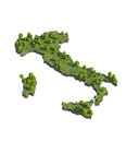 3d render of italy map section cut isolated on white with clipping path Royalty Free Stock Photo