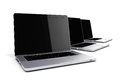 3d render of laptops Royalty Free Stock Photo