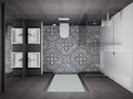 3D render modern interior of bathroom Royalty Free Stock Photo