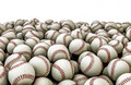 D render piled baseballs Royalty Free Stock Image