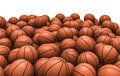 D render piled basketballs Stock Image