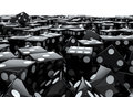 D render piled black dice Royalty Free Stock Photography