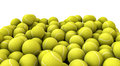 D render piled tennis balls Stock Photos