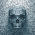 D render pixelated skull Royalty Free Stock Image