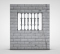 3d render of prison(jail) on a light background