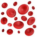 3d render red blood cells isolated on white BG Royalty Free Stock Photo