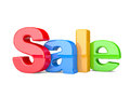 D render of the text sale on a white background Royalty Free Stock Photos